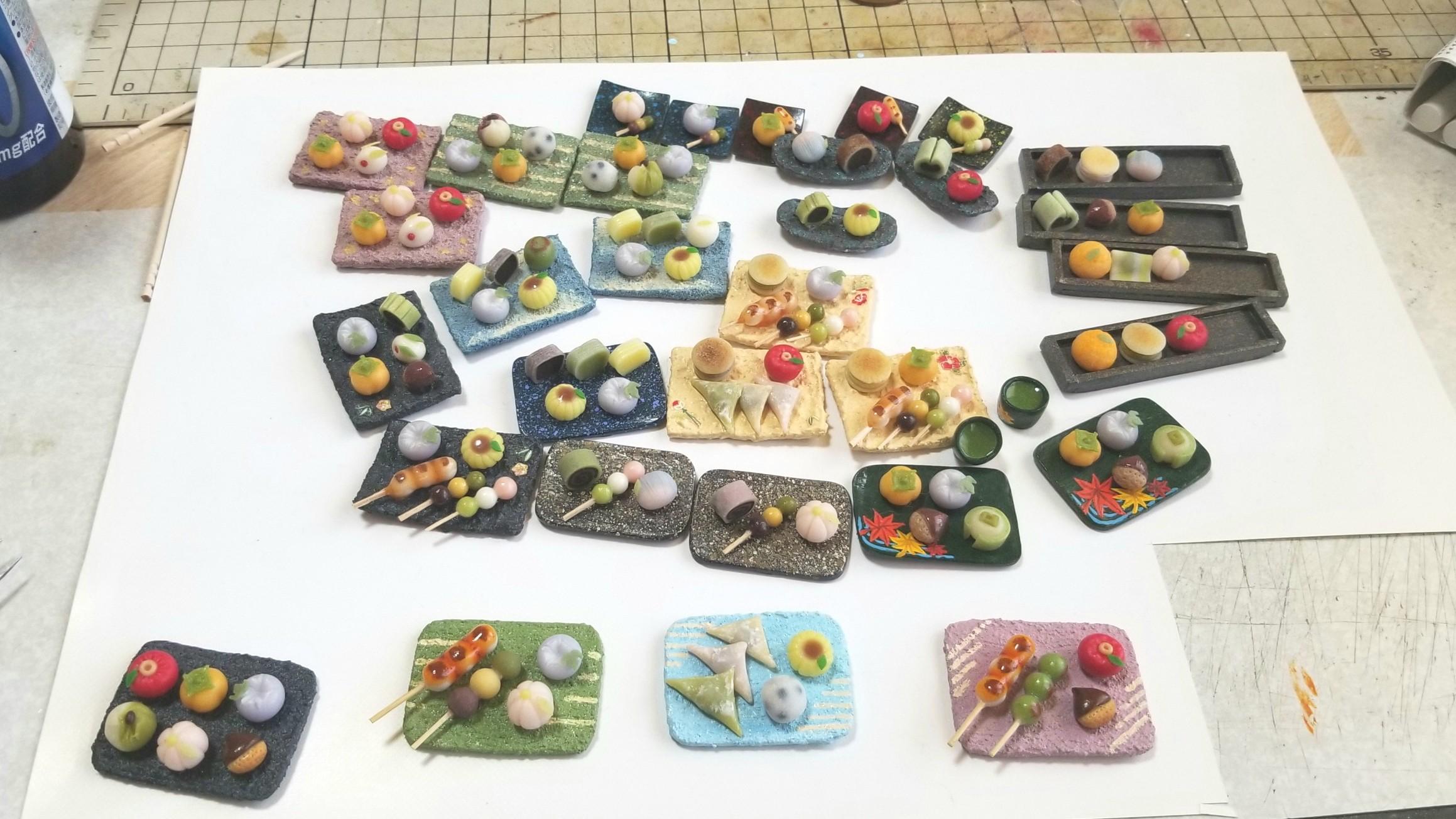 東京ドールハウスミニチュアショウ,和菓子,作品製作,2018,人形,食玩