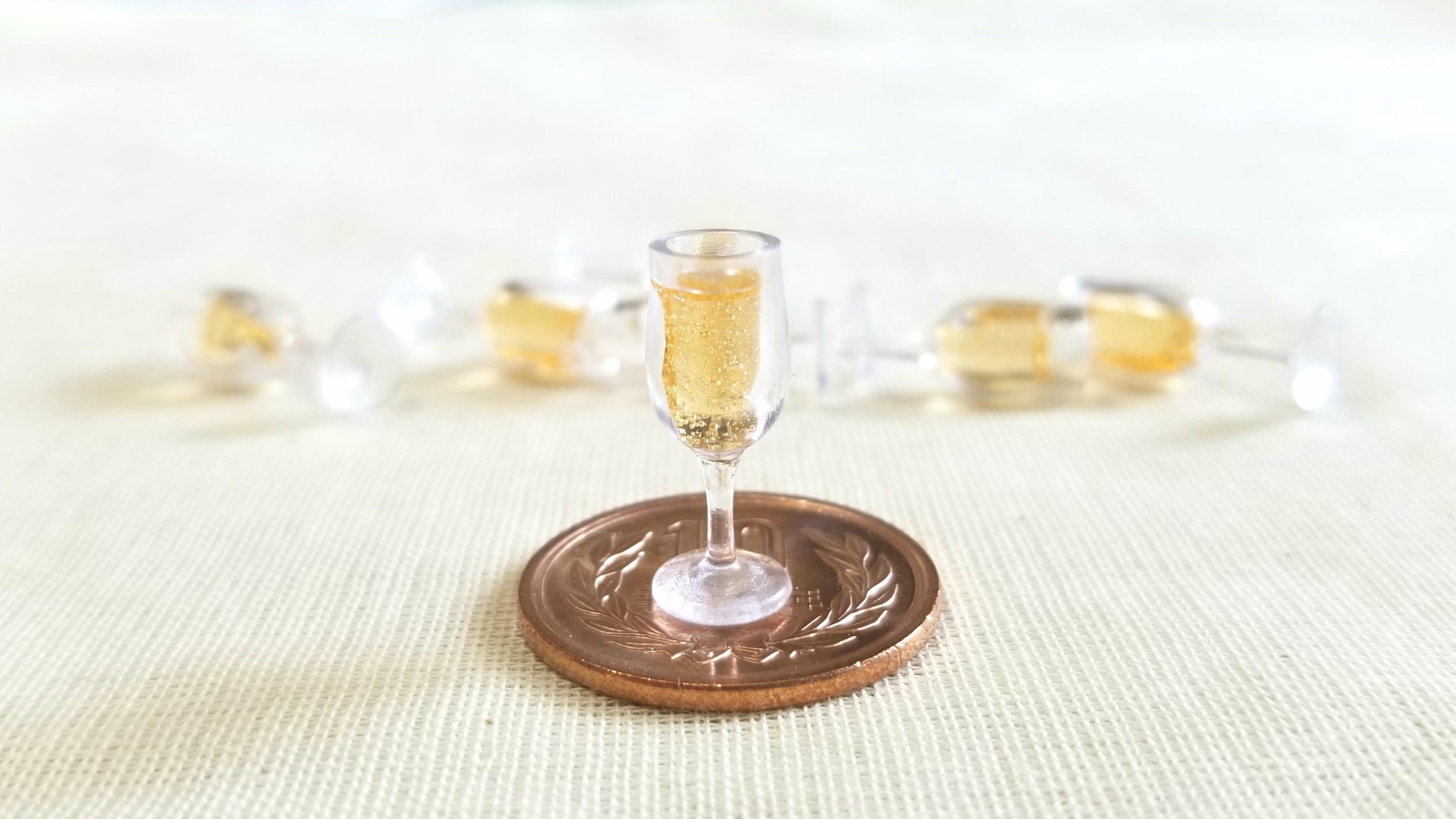 ミニチュアフードゴールドシャンパン高級豪華綺麗おいしいお洒落