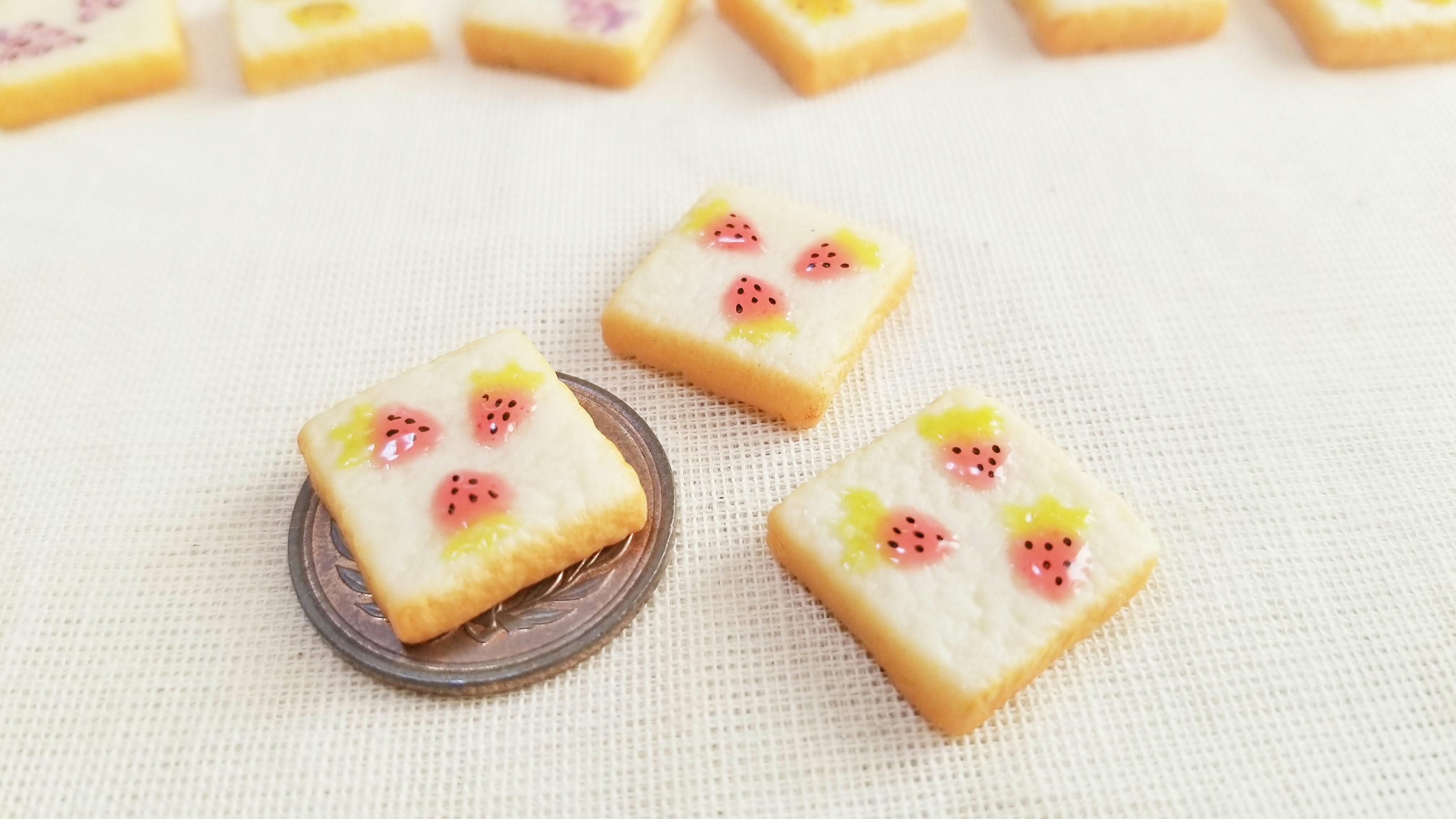 ミニチュア作家かわいい柄トーストアートミンネ販売中人気食パン小物