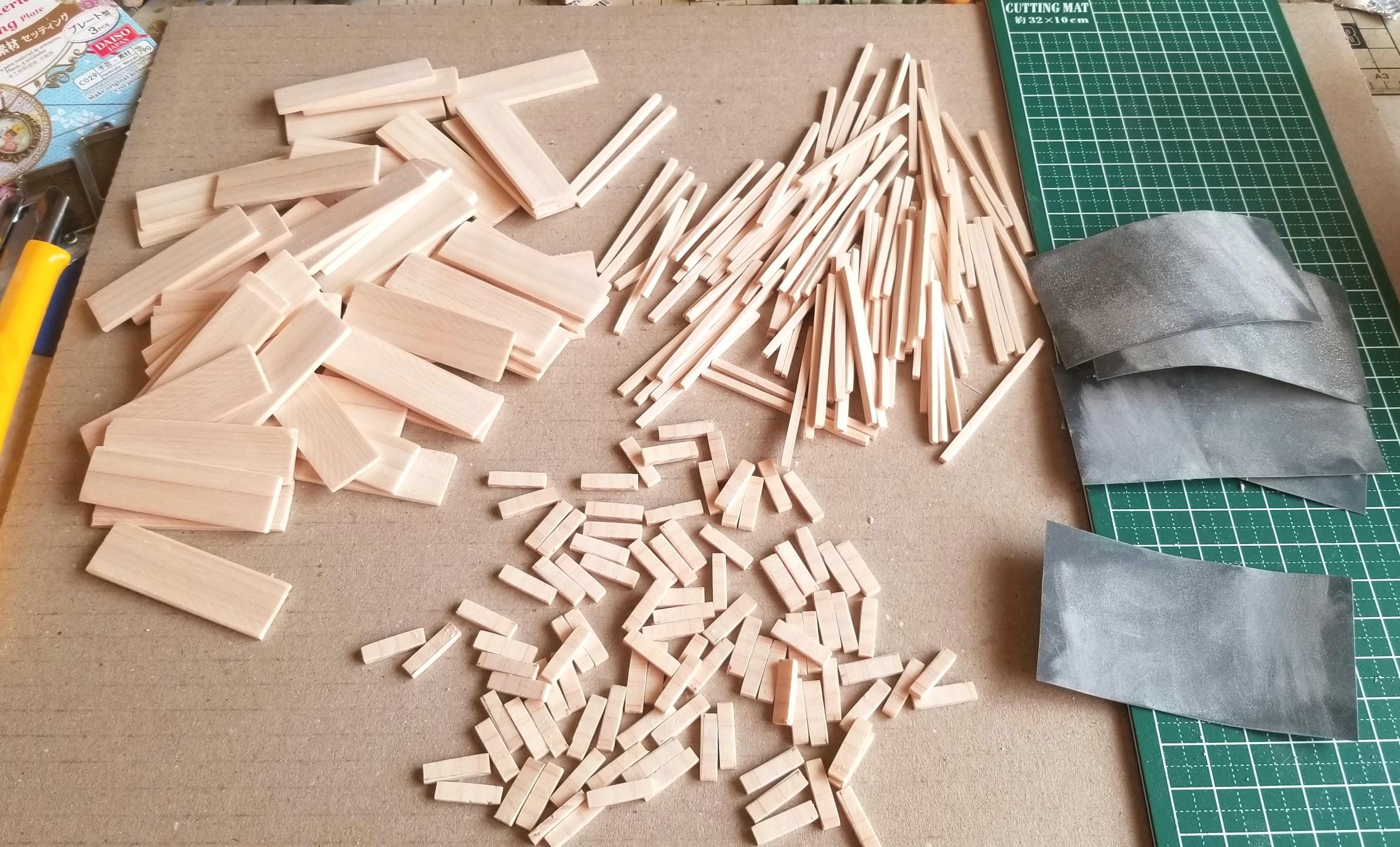 ミニチュアフード,木工作業,木製トレー,箱,作り方,ヒノキ,桧,和菓子