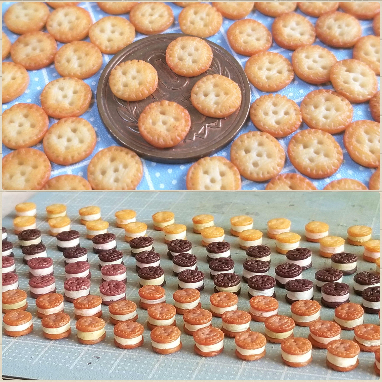 ミニチュアフード,クッキーサンドアイスクリーム,ミンネで販売予定
