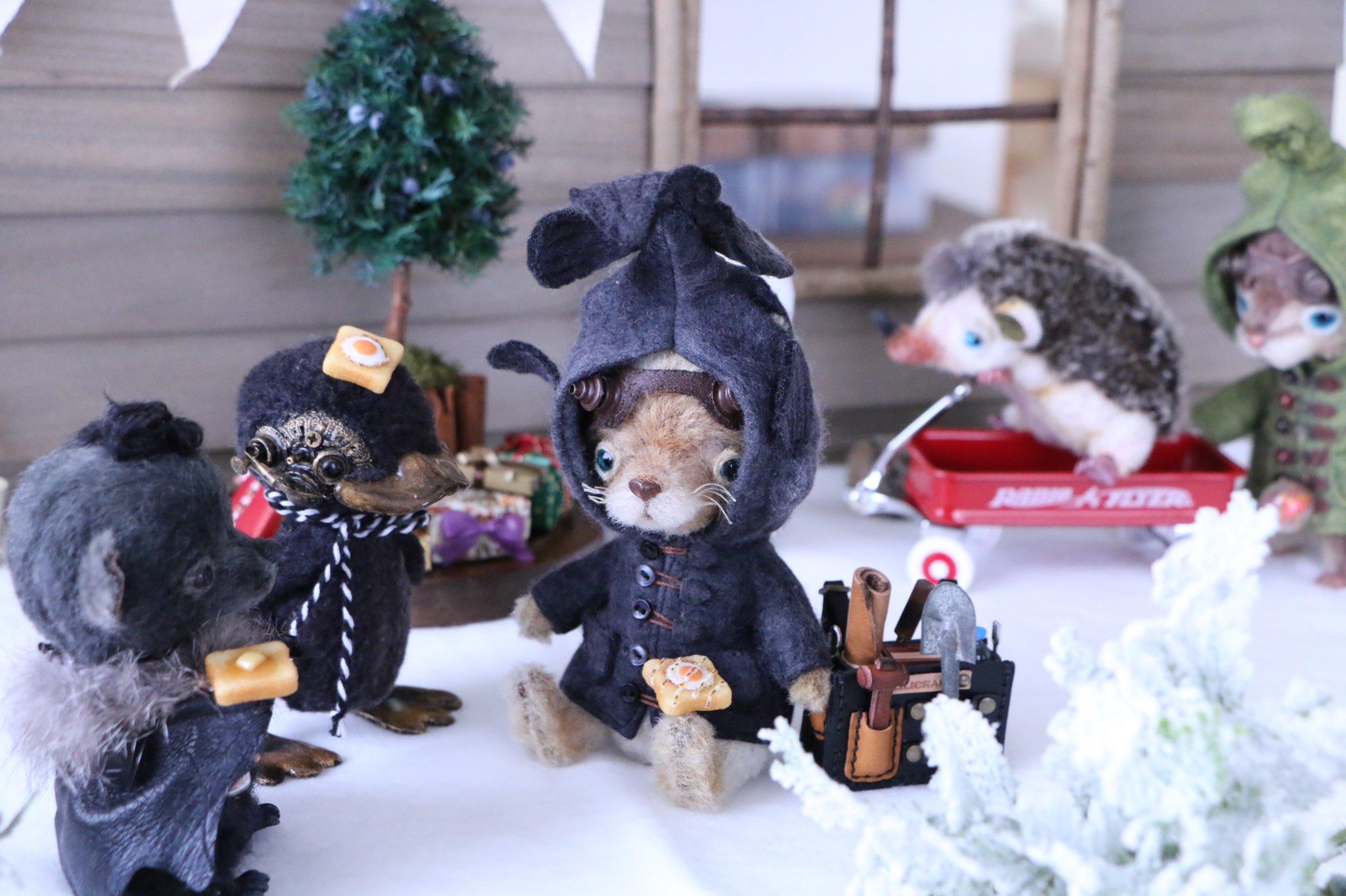 ドール撮影用小物,素敵なおすすめおもちゃ,パン,クリスマス雪景色