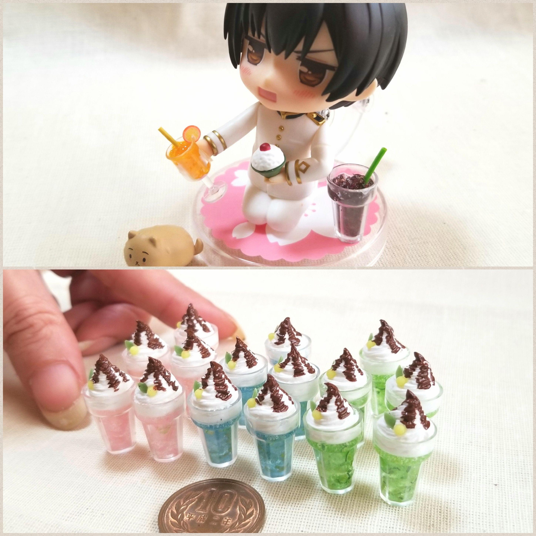 ミニチュアフード,飲み物,ミンネで販売,かわいいドール小物おもちゃ