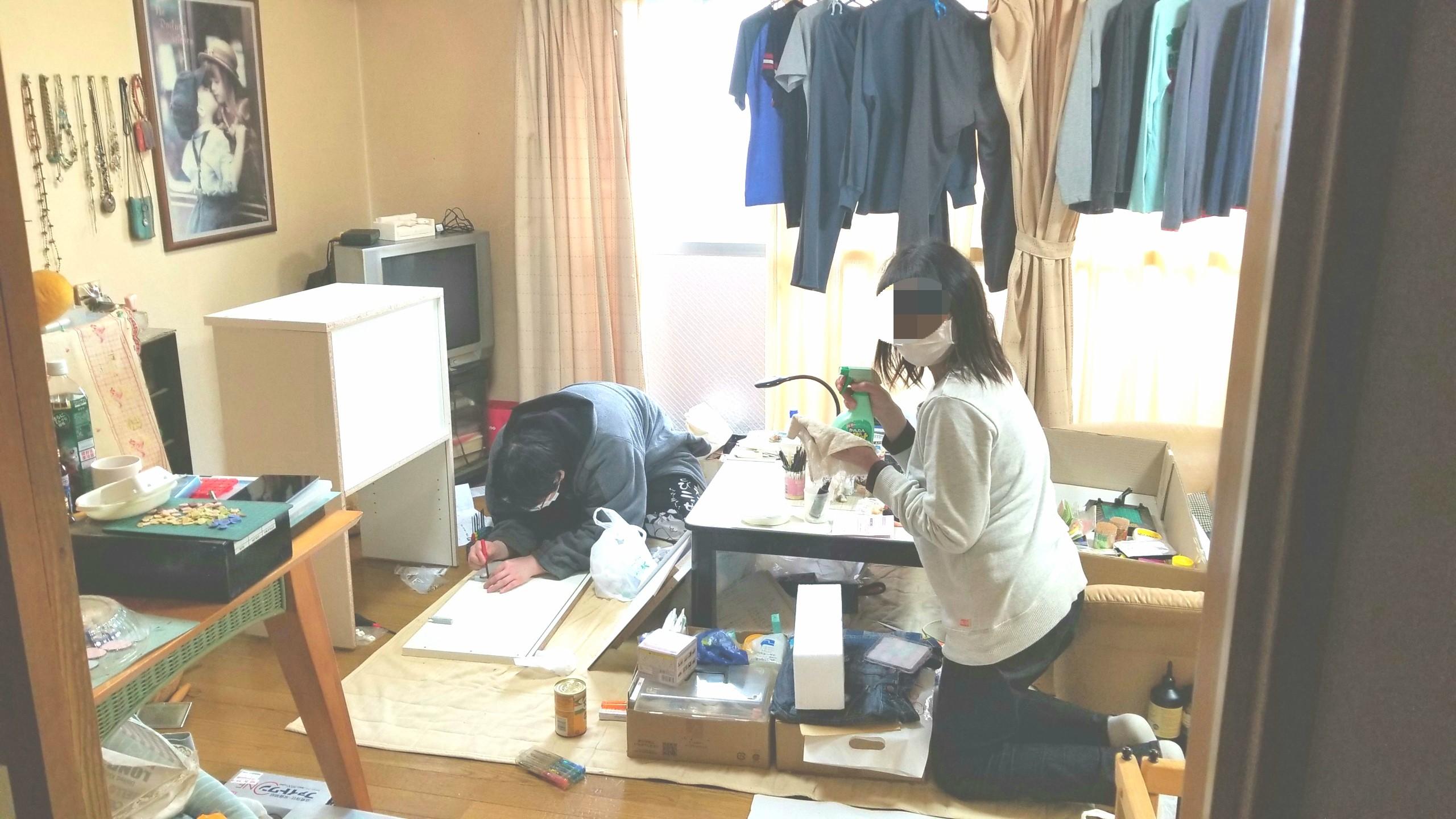 お部屋掃除,新しい家具を購入新調,組み立て作業,ワンルーム
