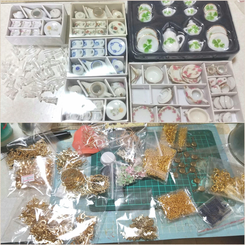 ハンドメイド,ミニチュアフード,道具材料,小物,高い,売上,値段,百均