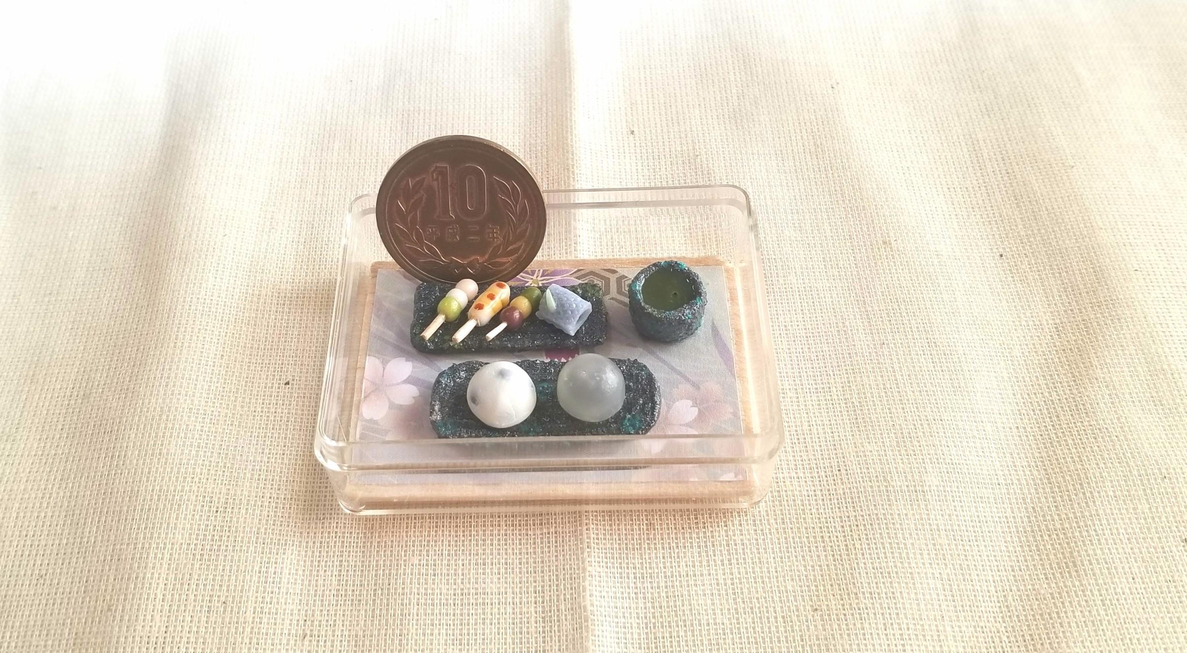 坊っちゃん団子,抹茶,和菓子,ミニチュアフード,ミニスウィーツドール