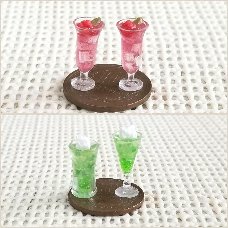 ミニチュアフード,飲み物作り方,道具や材料の使い方,着色方法,塗料