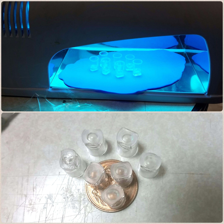 ミニチュア透明グラスの作り方,100均のシュガレットフィルターを使用