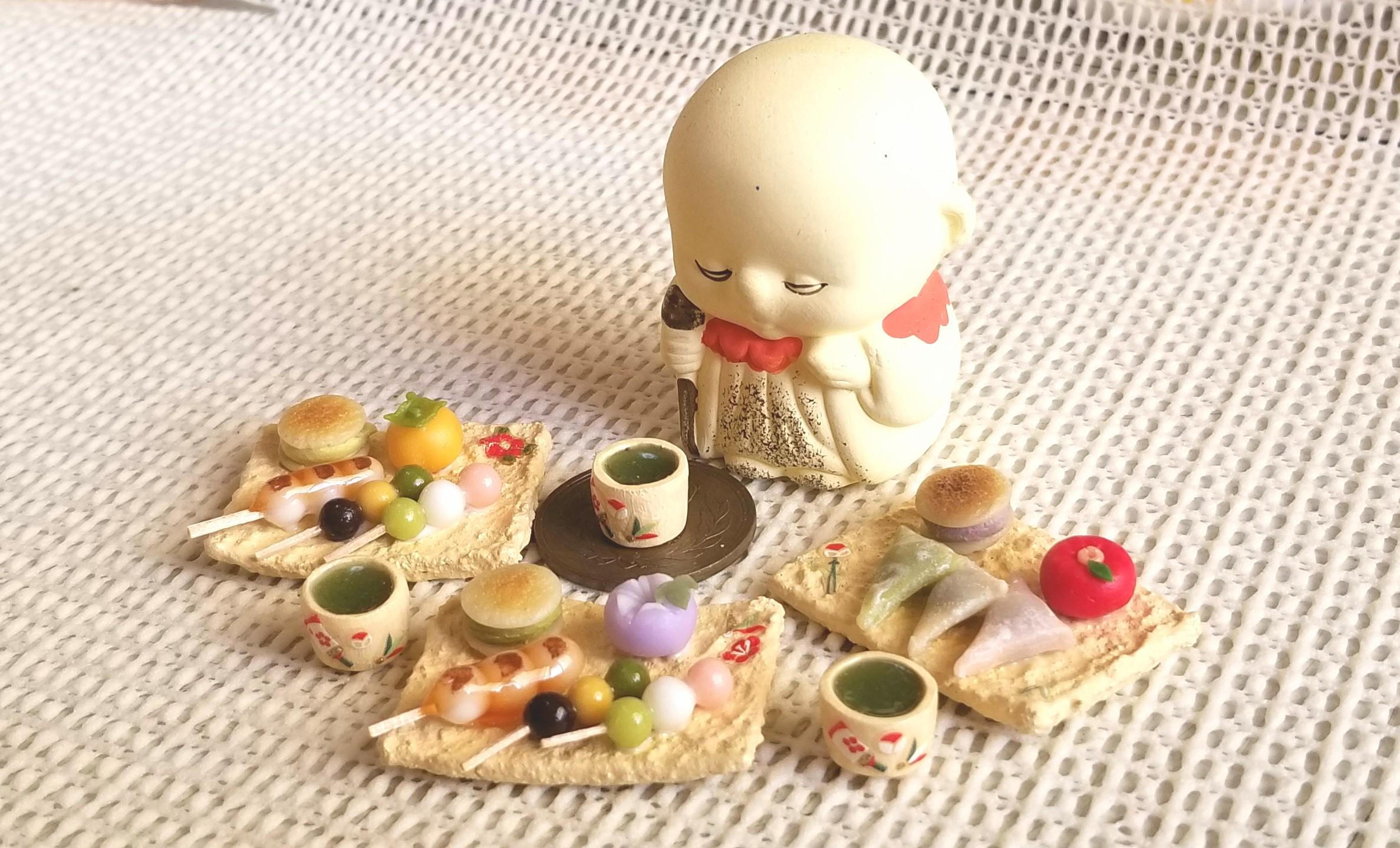 和菓子,食品,ミニチュア,ミニチュアフード,樹脂粘土,ドールハウス