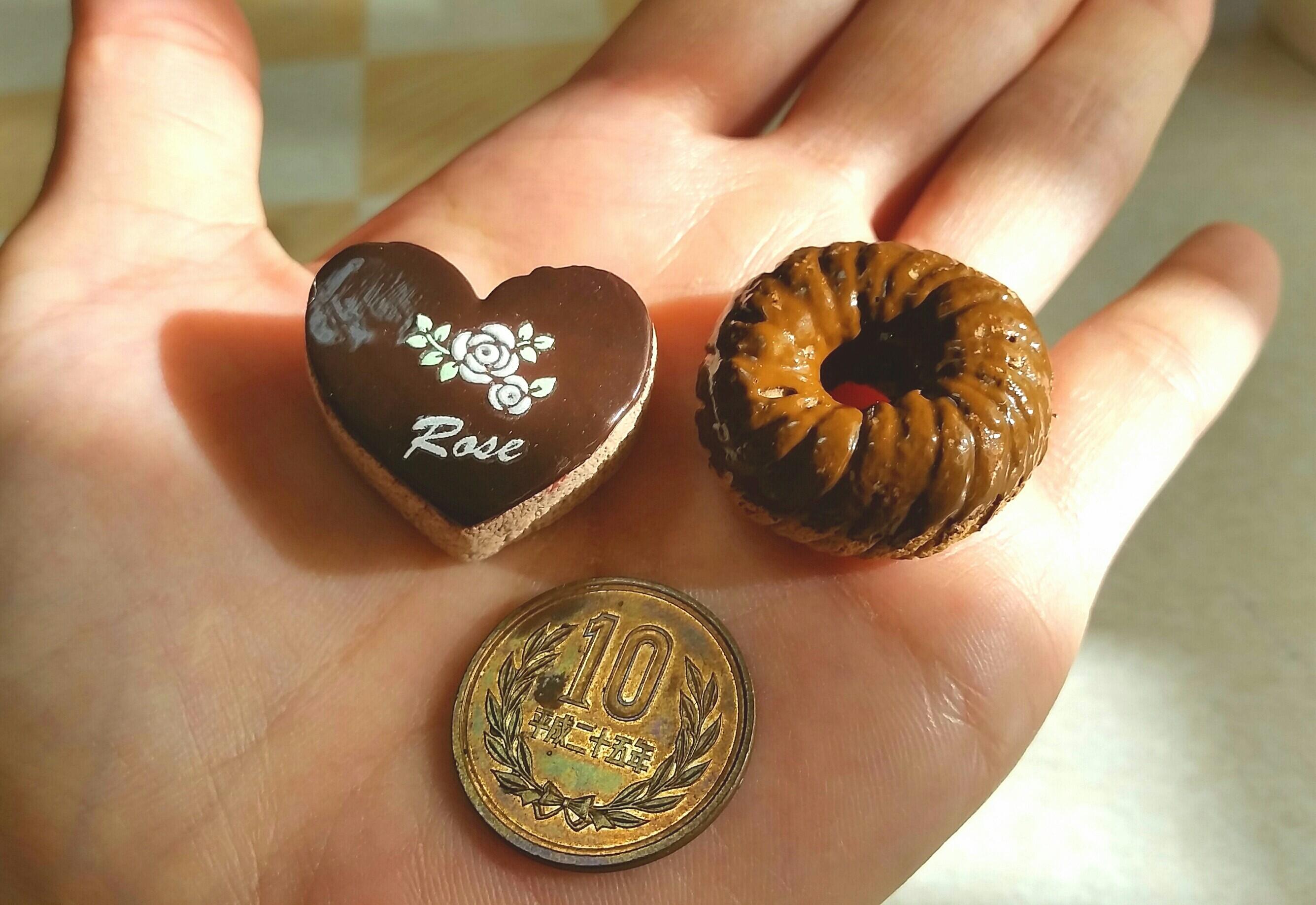 小さなチョコレートケーキ,かわいいおすすめおもちゃ,ミニチュア小物