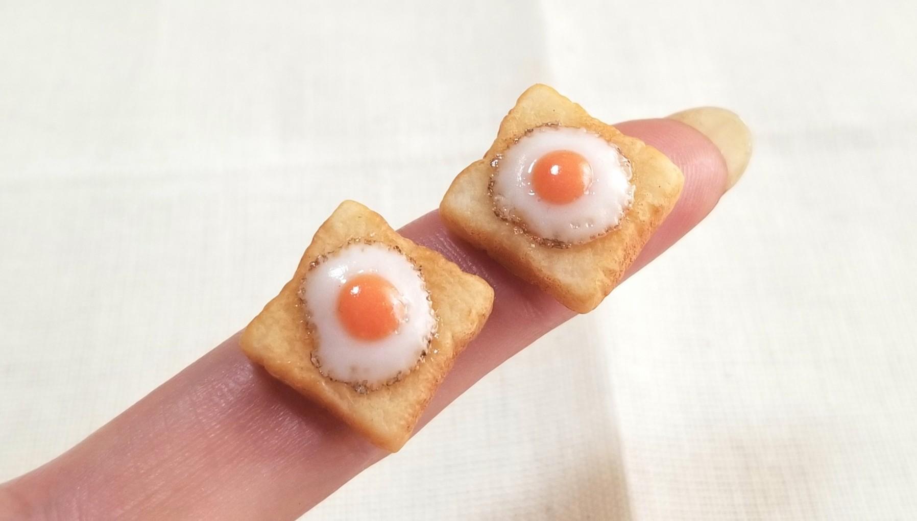 ミニチュアラピュタトースト,おいしい食パン,樹脂粘土アート,人気