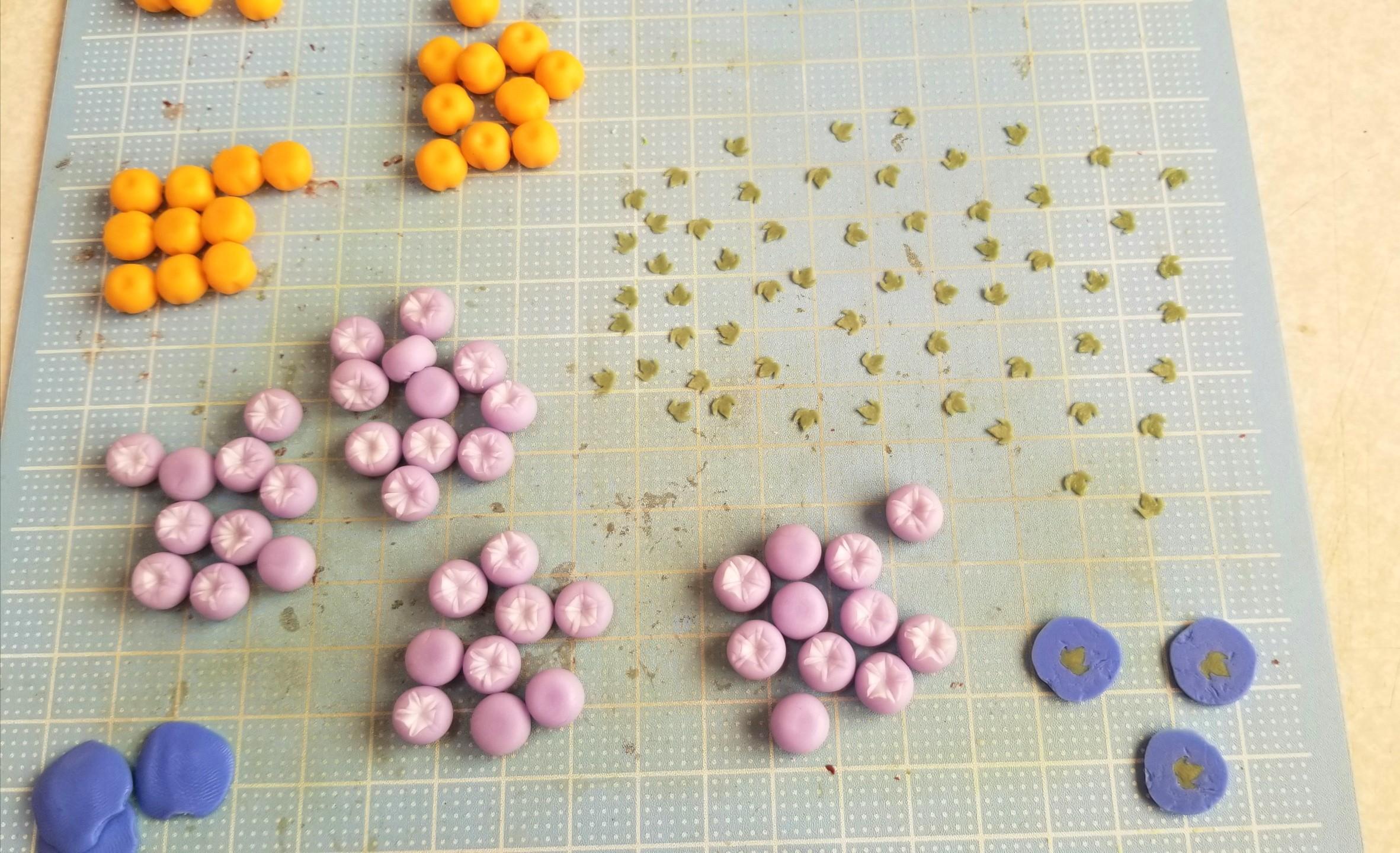ミニチュアフード,和菓子,朝顔の葉っぱ,作り方,樹脂粘土,フェイク