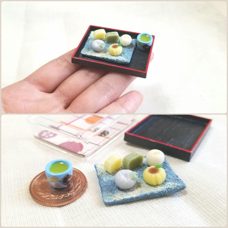 ミニチュア和菓子,涼しそうな生菓子,小さくて可愛い,ドール用小物