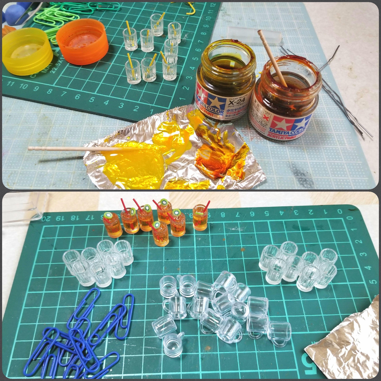 ジュース,ドリンク,ミニチュアフード,作り方,飲み物,レジン,ドール