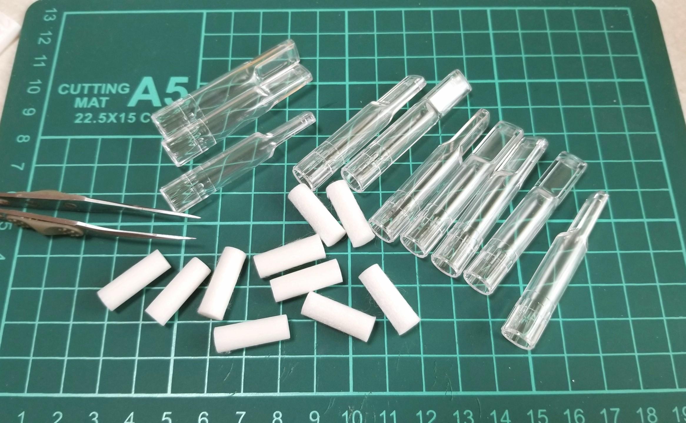 ミニチュアフード,グラス,コップ,作り方,シガレットフィルター応用