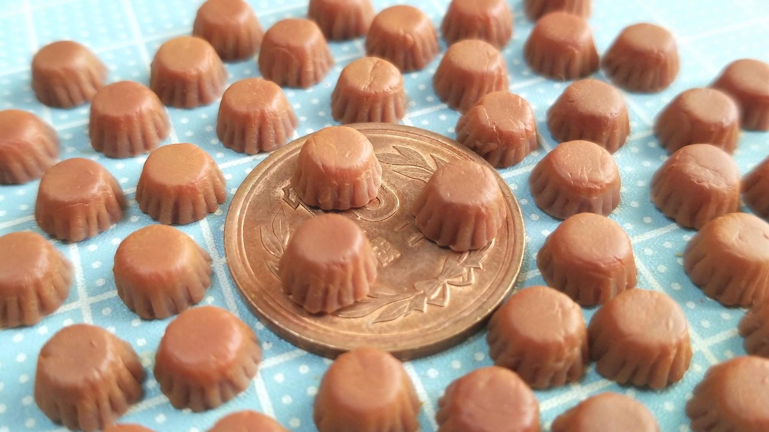 チョコレートカップケーキ,作り方,ミニチュアフード,フェイクフード