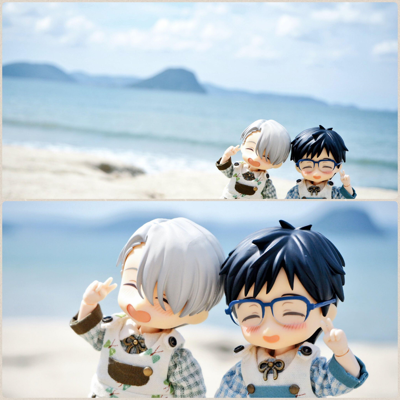 海辺で記念写真,オビツろいど勇利,楽しい,笑顔が可愛いドール撮影