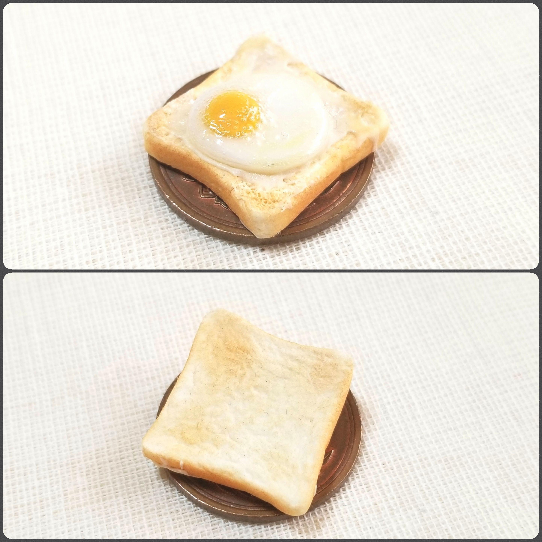 ミニチュアフード購入,manmaru_tyann,目玉焼きトースト