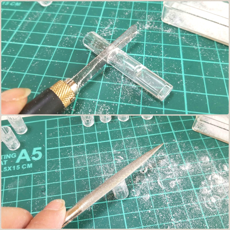 ミニチュア透明グラスの作り方,わかりやすい,100均小物を使って