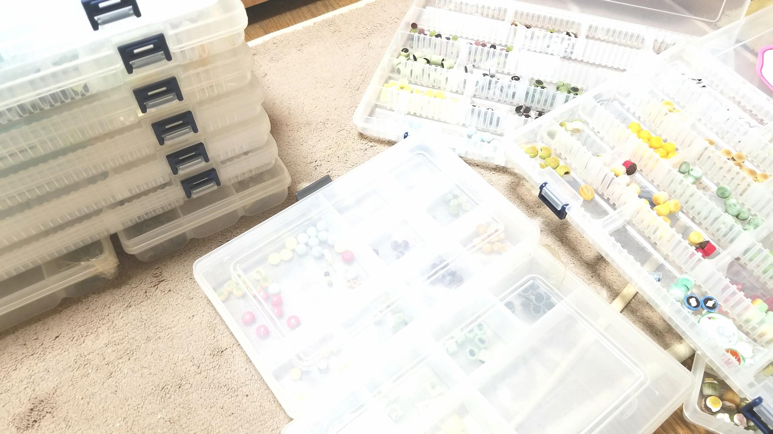 裏方舞台裏作業,ミニチュア,ハンドメイド,パーツ販売中,発送梱包準備