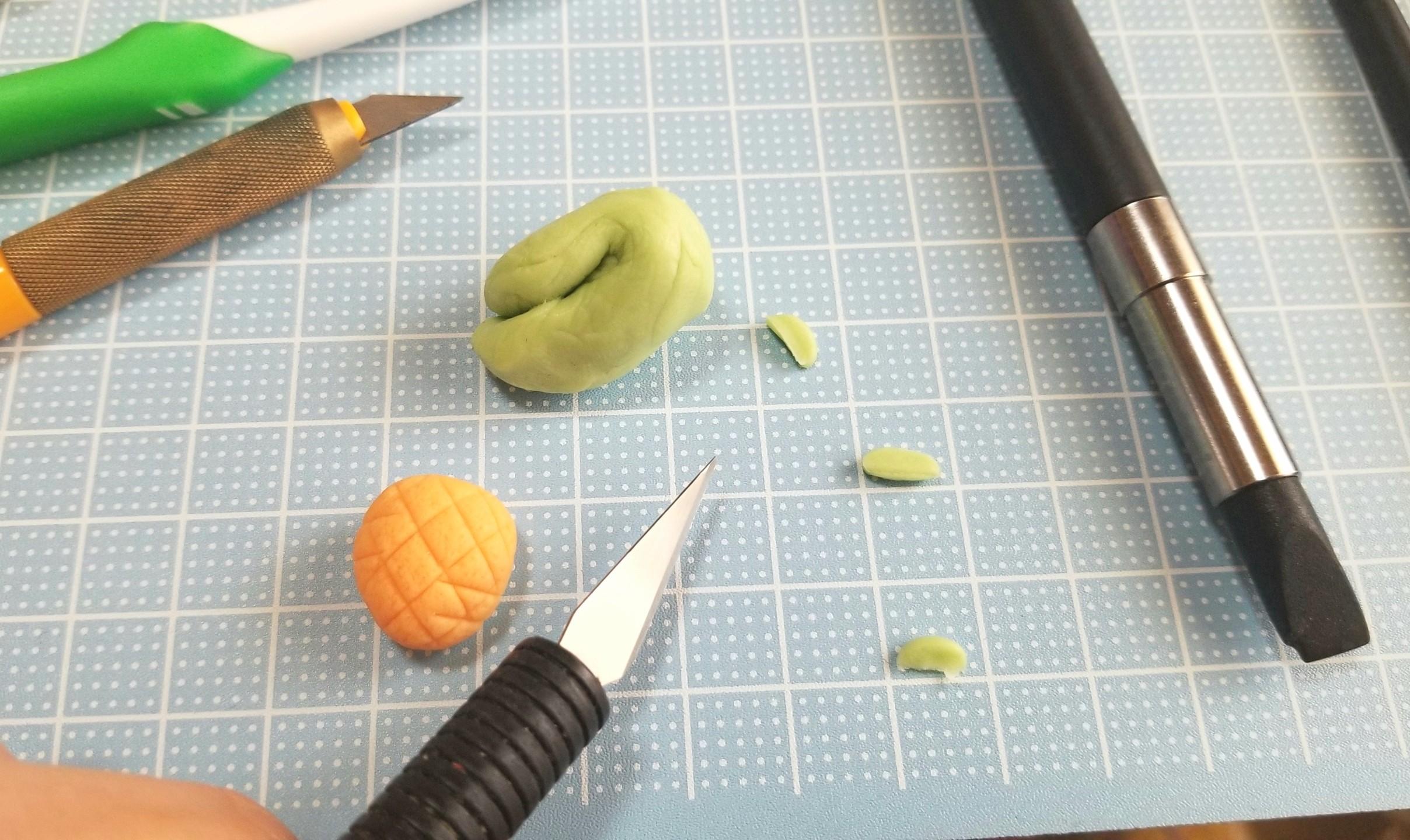 野菜にんじんパン,ミニチュアフード,作り方,樹脂粘土,ドールハウス