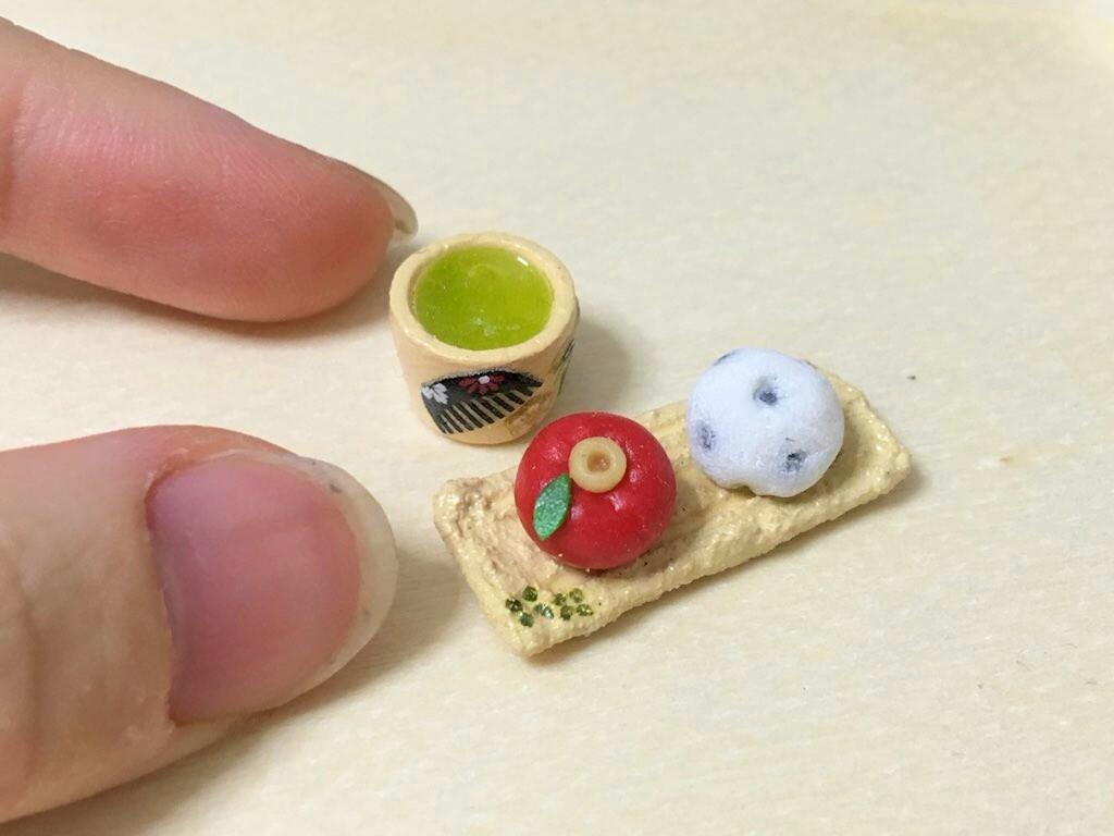 欲しいくなるミニチュアフードール用小物和菓子かわいいサイズ和風