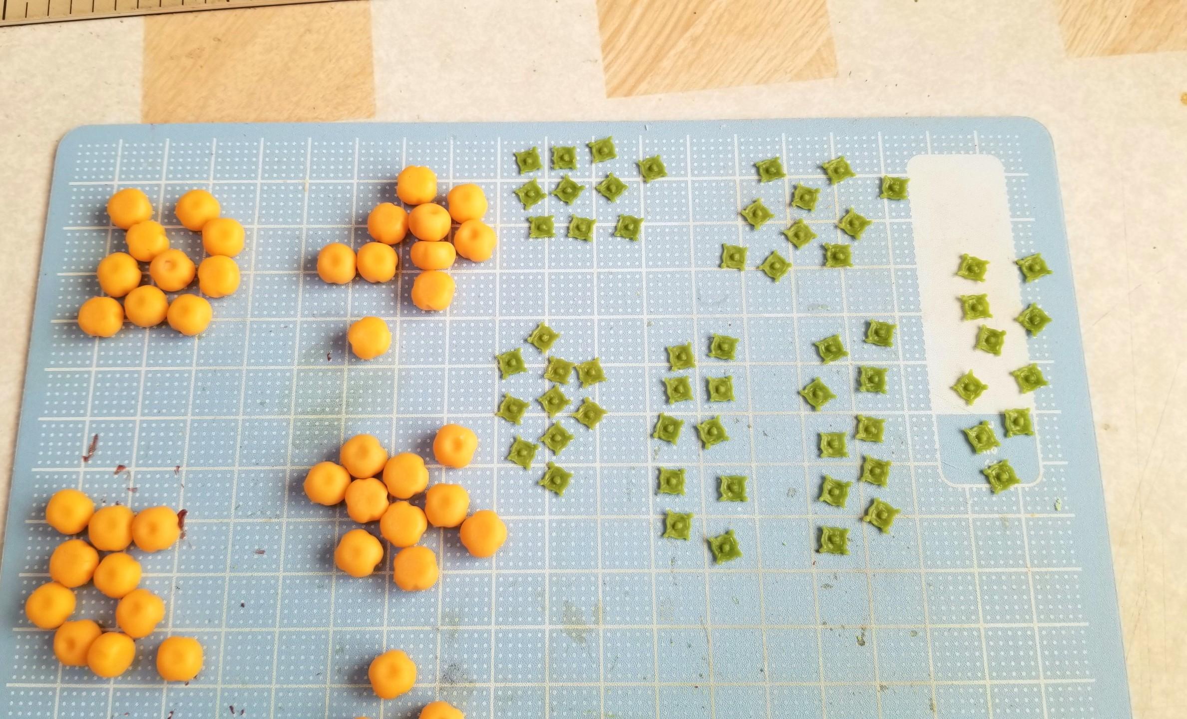 ミニチュアフード,和菓子,柿の葉っぱ,作り方,樹脂粘土,食品サンプル