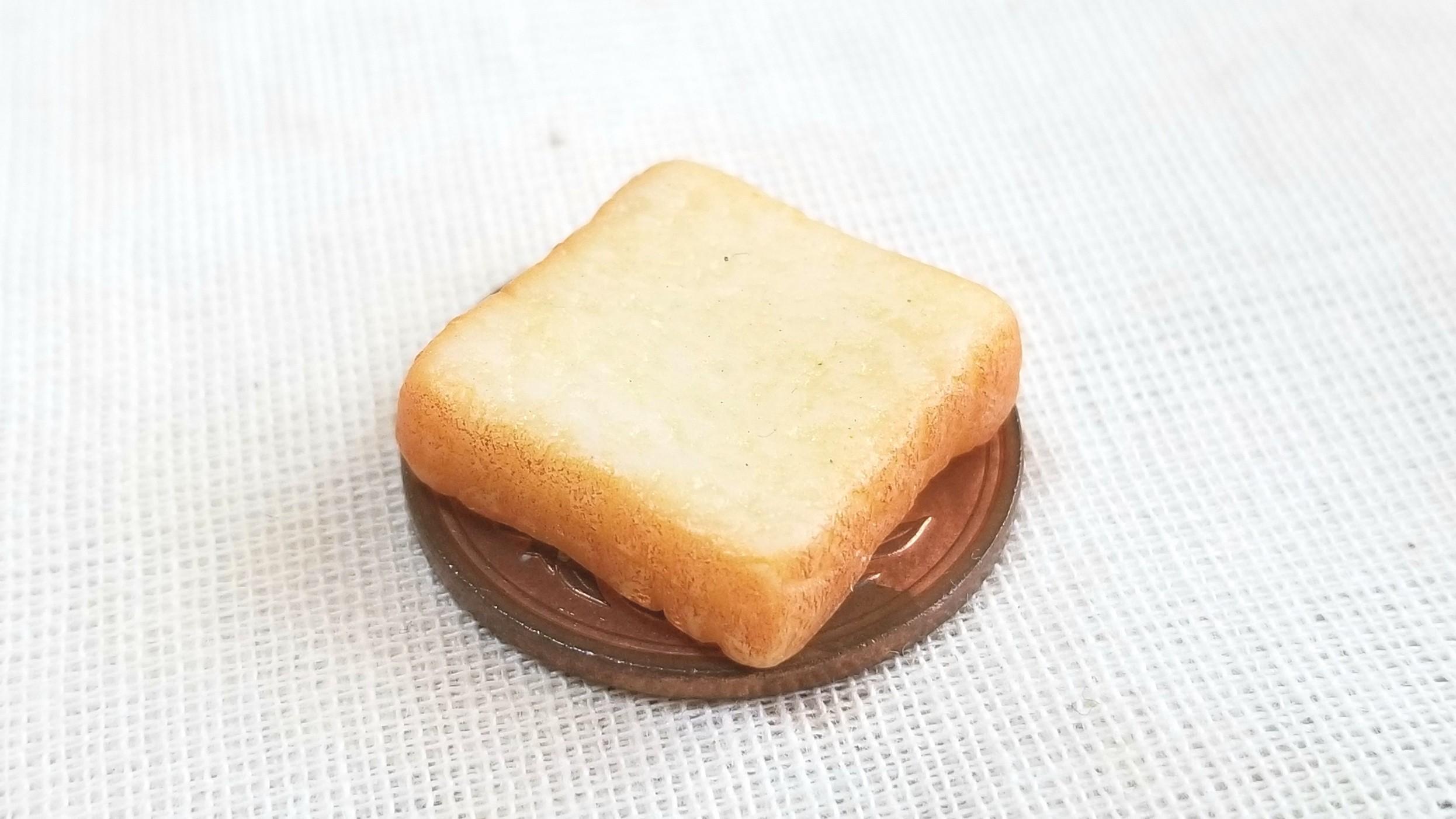 ミニチュア食パン,トースト,ミンネで販売中,樹脂粘土,ドール用小物