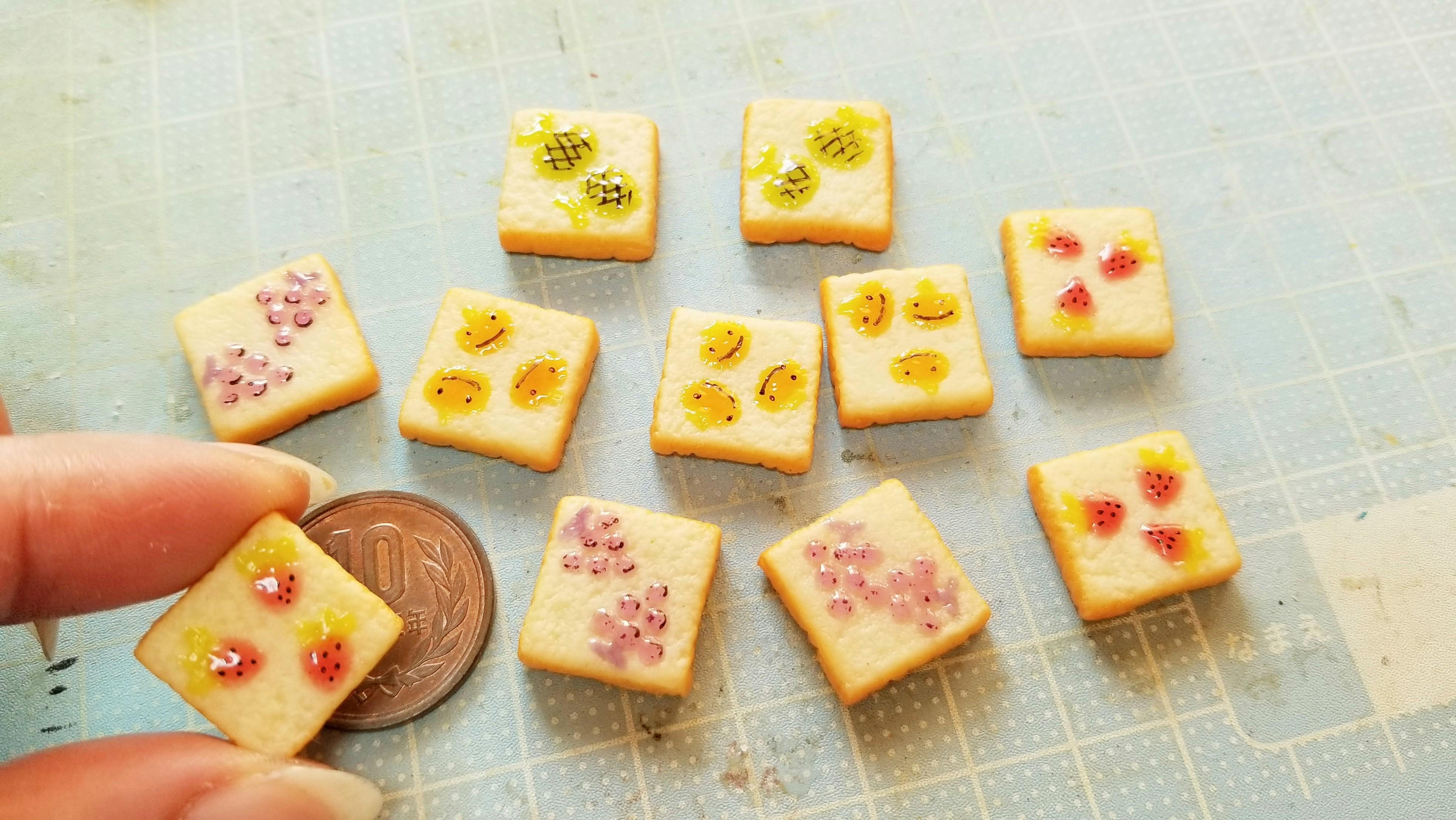 ミニチュアフード食パン柄トースト手作りかわいい食べたい人気ジャム