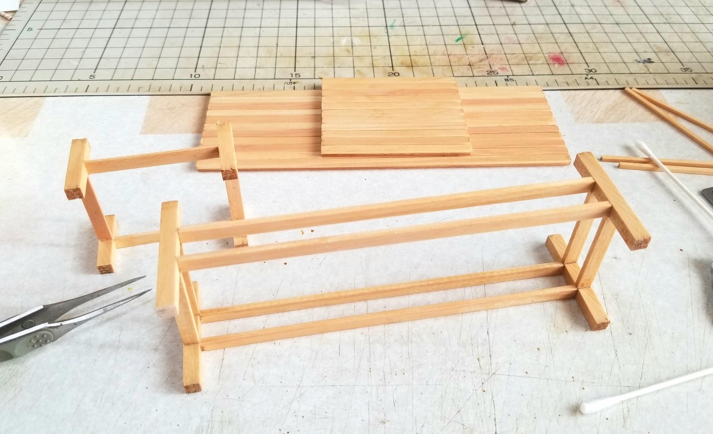ミニチュアフード,長椅子,テーブル,和菓子屋,作り方,机,ハンドメイド