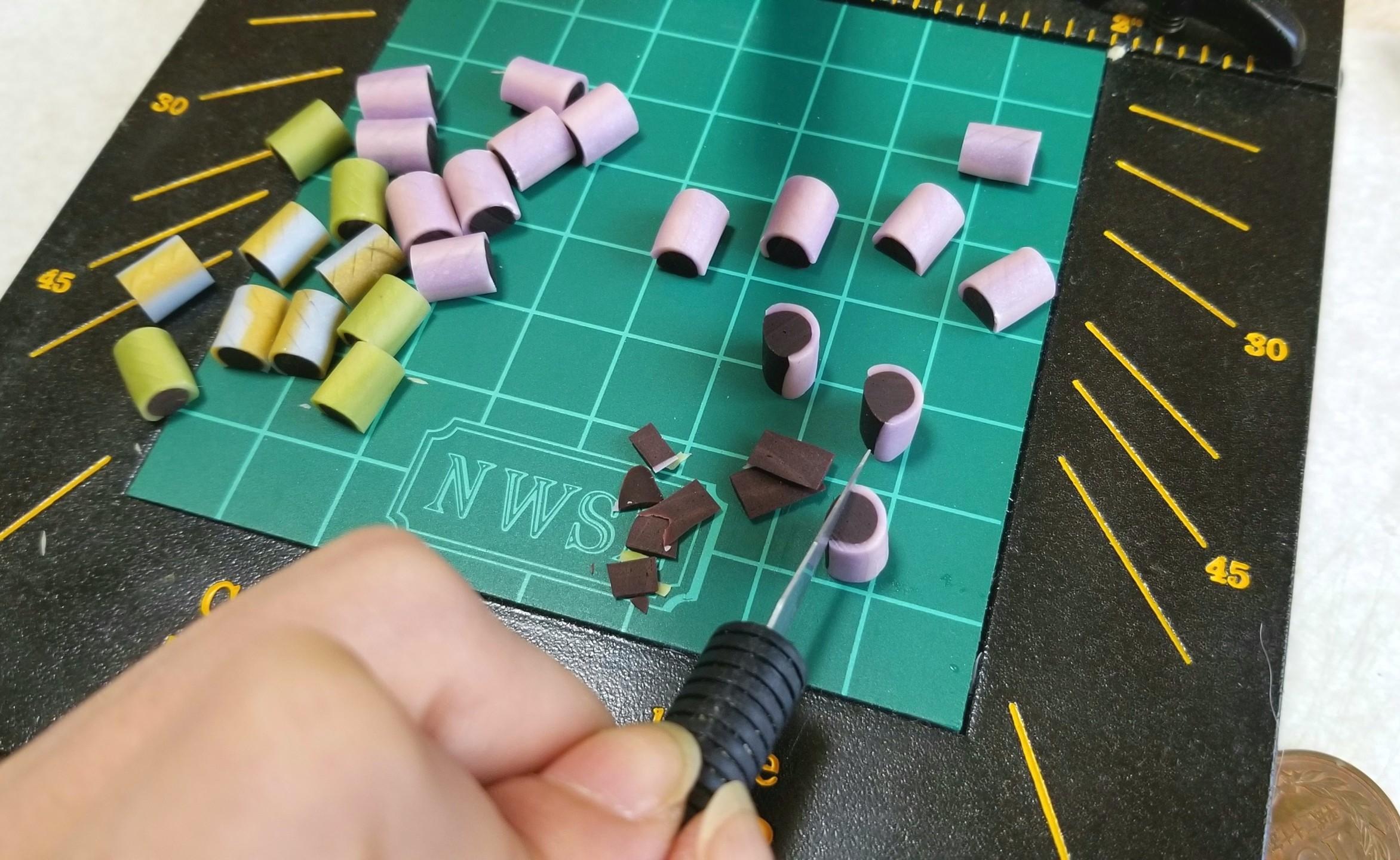 ミニチュアフード,製作過程,作業風景,作り方,チョッパー,樹脂粘土
