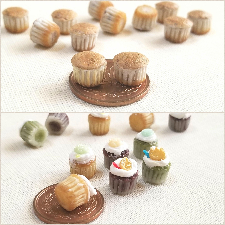 ミニチュアフードブログ,カップケーキ,ミンネ販売,樹脂粘土,おもちゃ