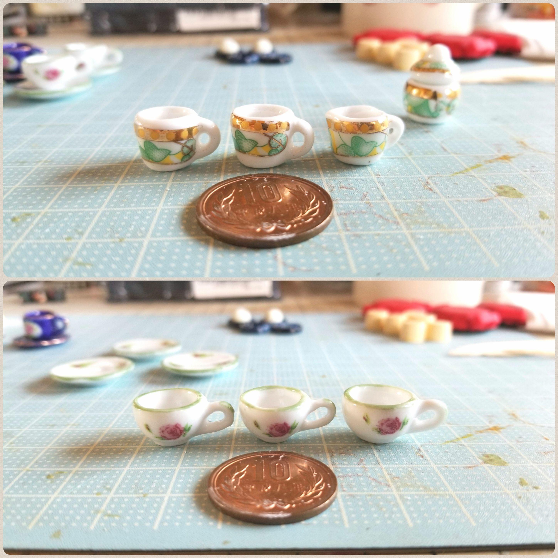 ミニチュアフードの作り方,かわいいお洒落な陶器のティーカップ