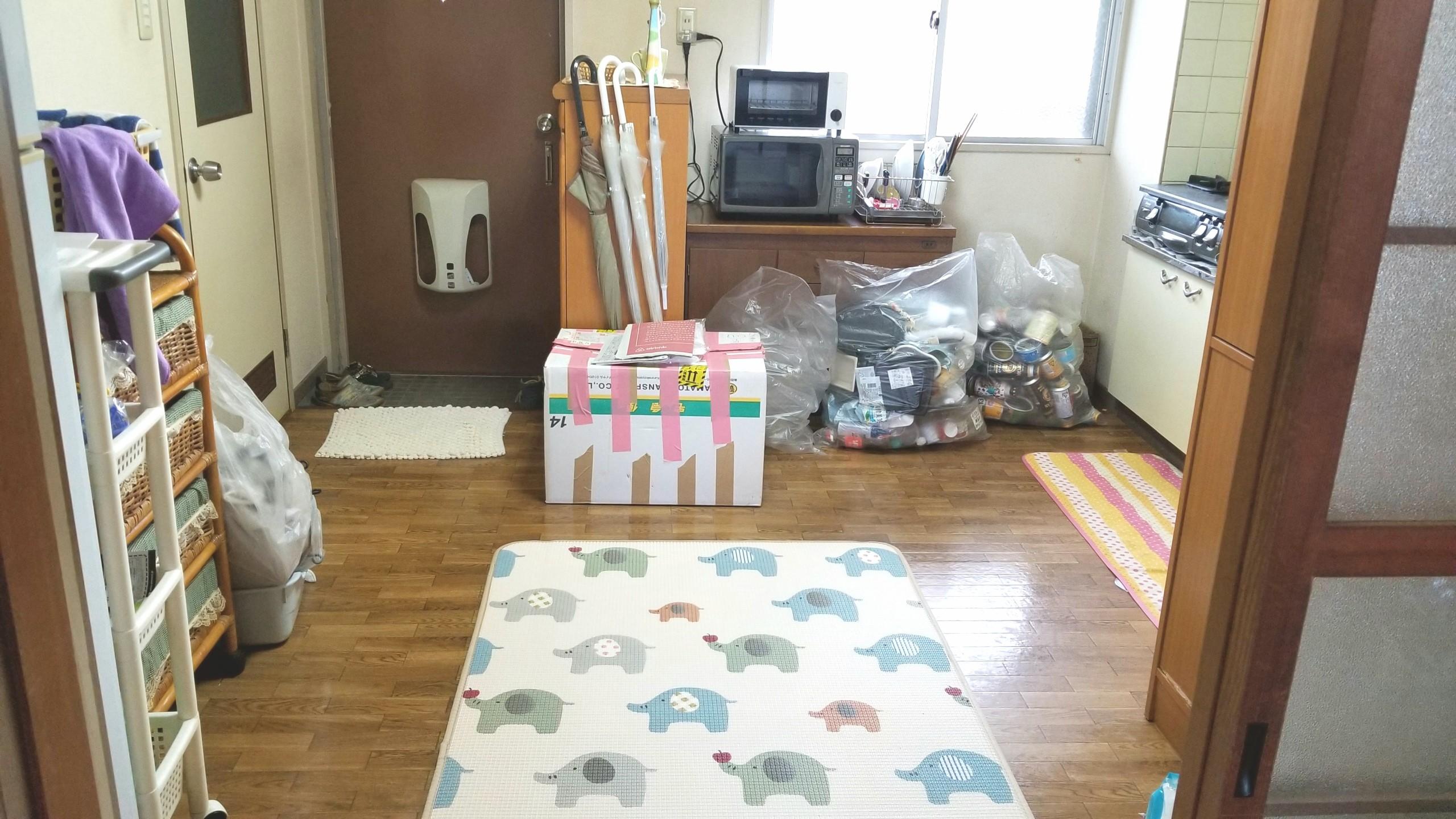 キッチン台所防水カーペット,かわいい,大掃除ビフォーアフター