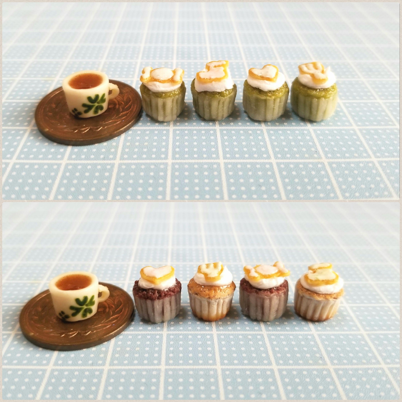 ミニチュアブログ,クッキーカップケーキ,ドール小物,樹脂粘土,販売