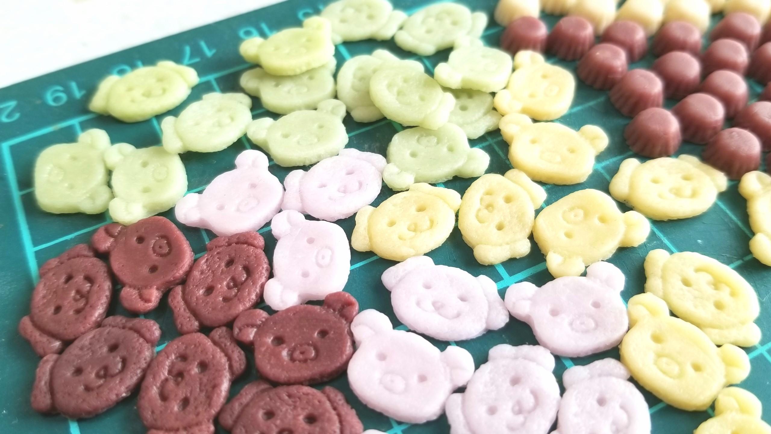 ミニチュア,クマちゃんクッキー,作り方,樹脂粘土,フェイクフード