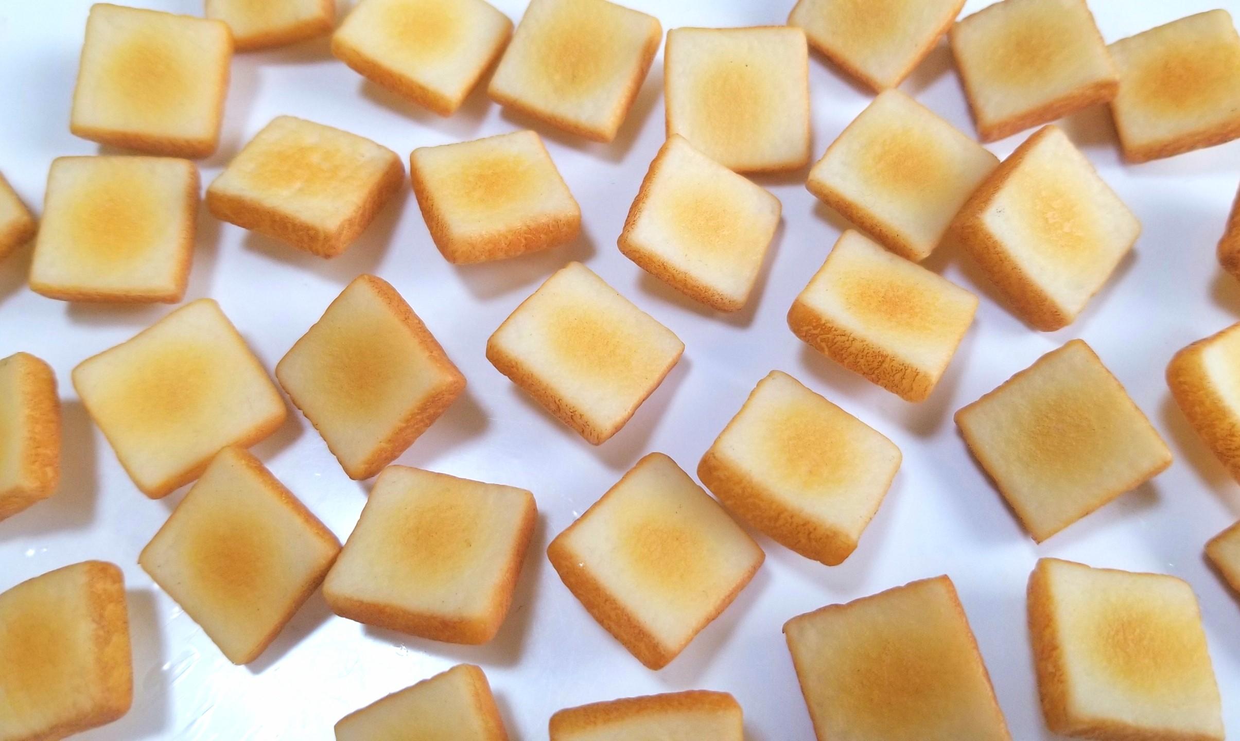 ミニチュア,食パン,トースト,作り方,シルバニア,樹脂粘土,フェイク