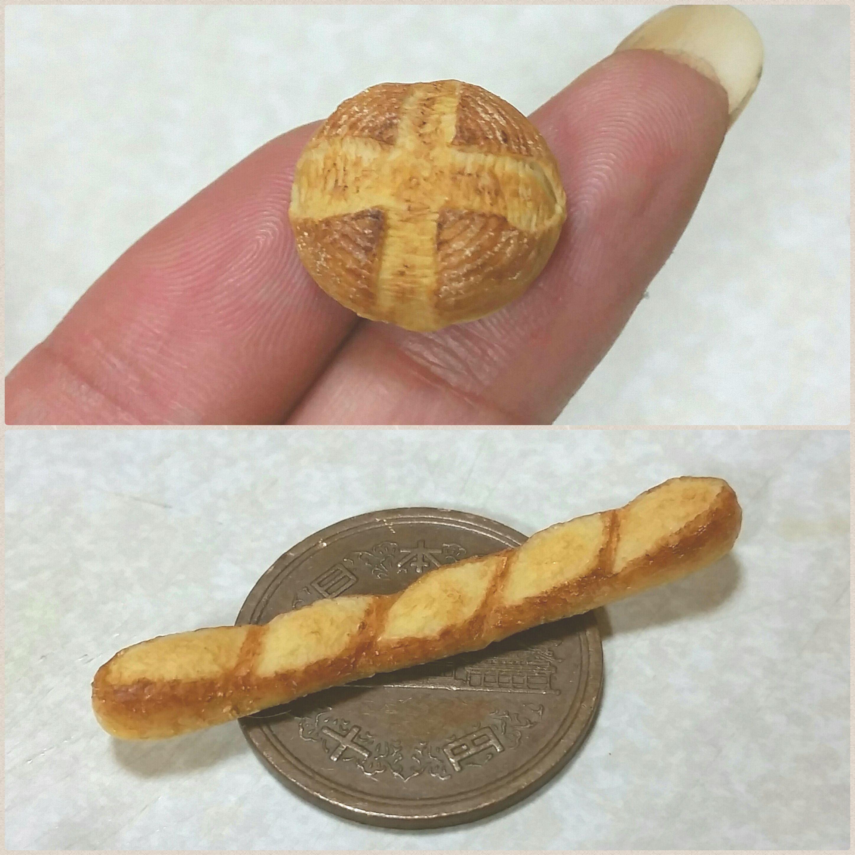 カンパーニュ,バケット,パン,ミニチュアフード.樹脂粘土,可愛い