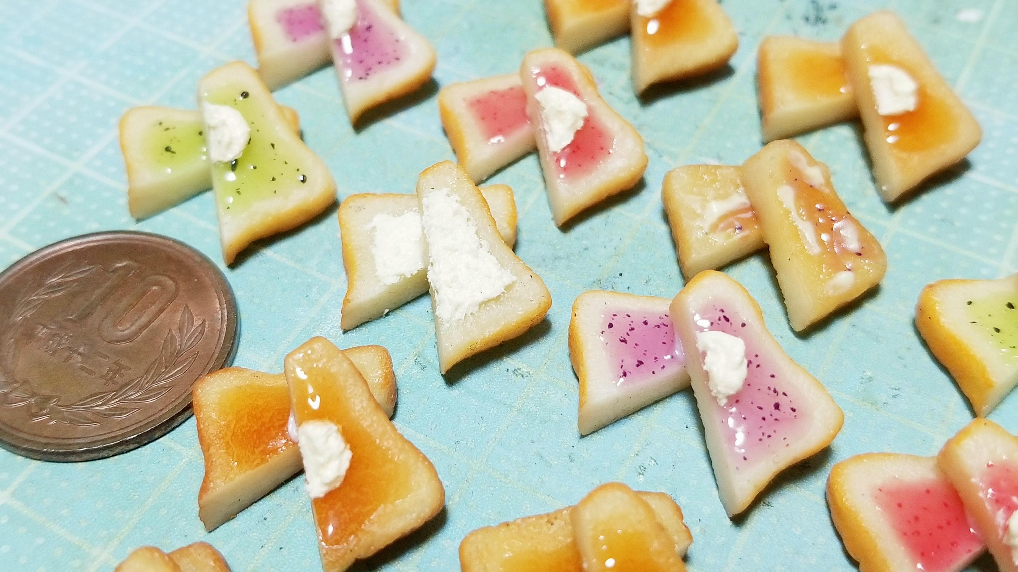 ミニチュアフード食品サンプルパントースト可愛い作り方アレンジ小物