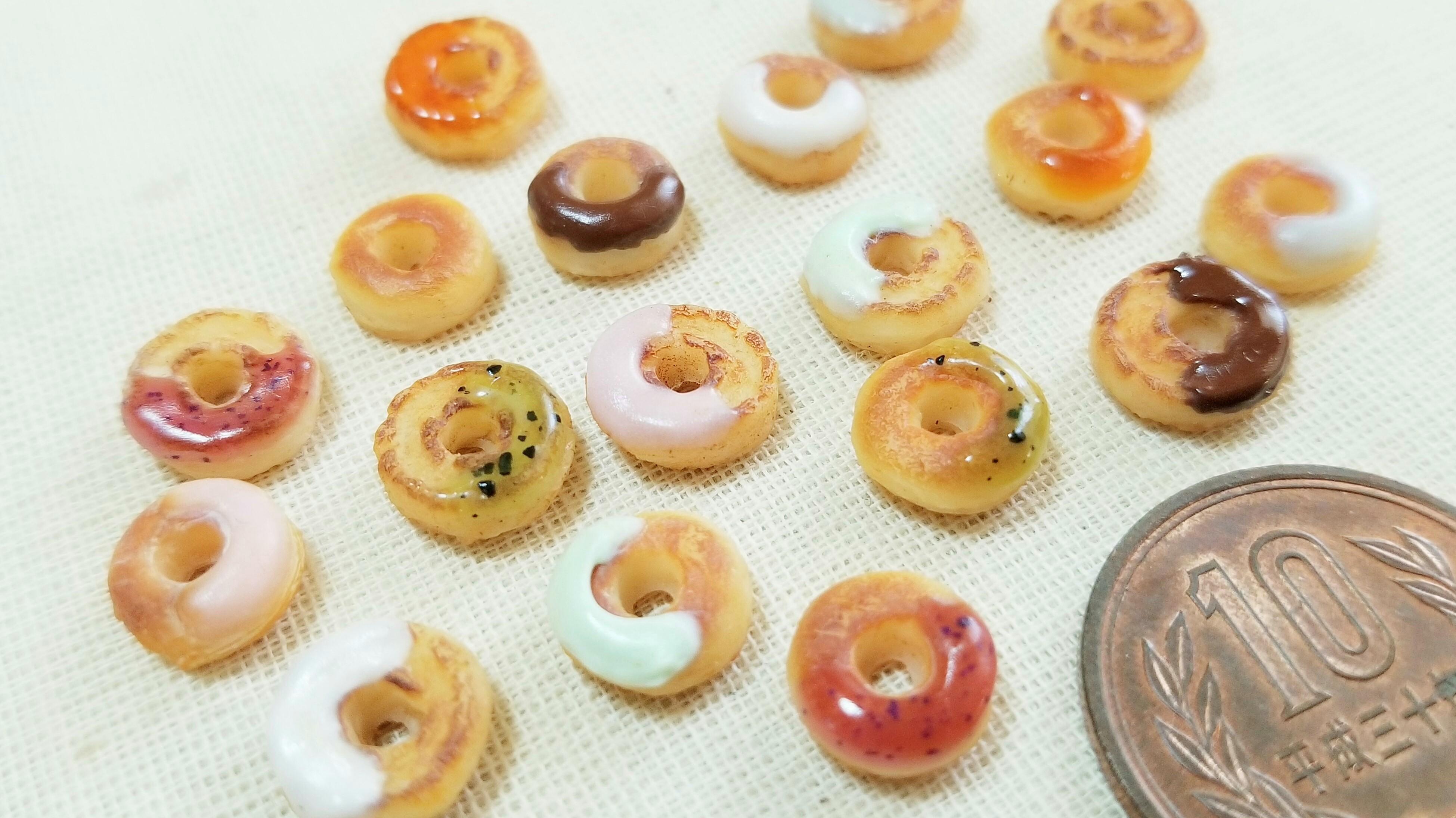 ミニチュアフードドーナツ焼き洋菓子可愛いドール用品小物人気ブログ