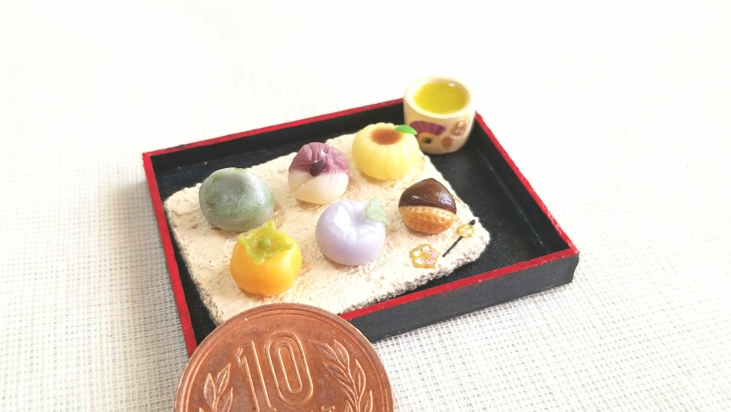 ミニチュア和菓子,樹脂粘土,リアルなドール小物,おもちゃ雑貨,人気
