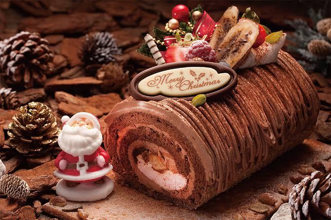 クリスマスチョコレートロールケーキ,豪華おしゃれ,食べたい