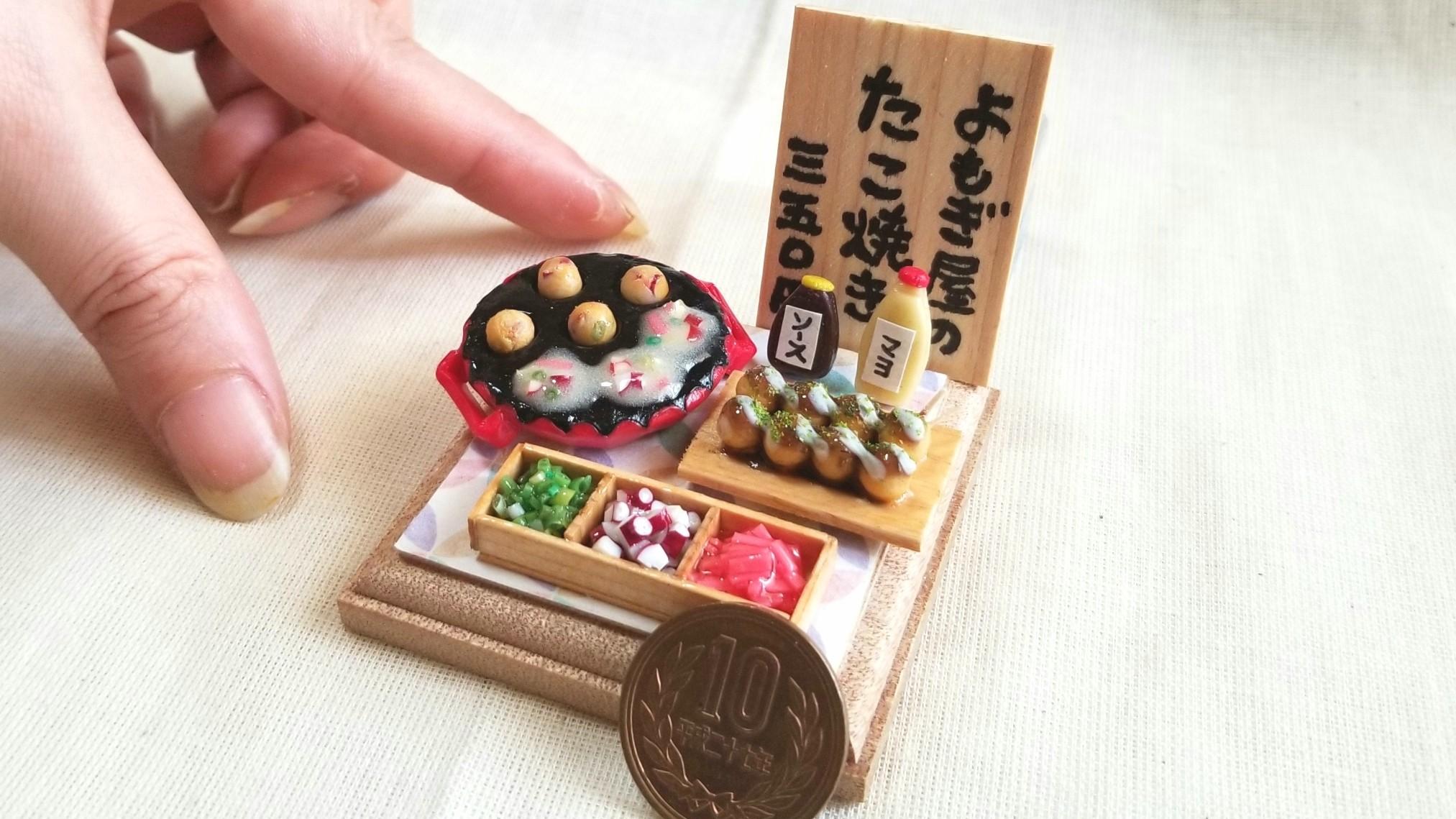 関西風,大阪のたこ焼き,たこパー,美味しそうな,リアルなミニチュア
