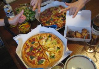 ドミノでピザパーティ