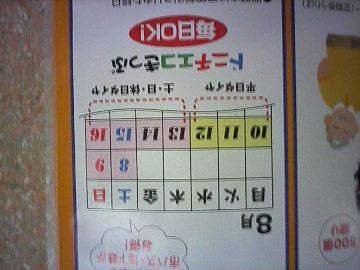 2009年夏は、ドニチエコきっぷを使える日がいっぱい