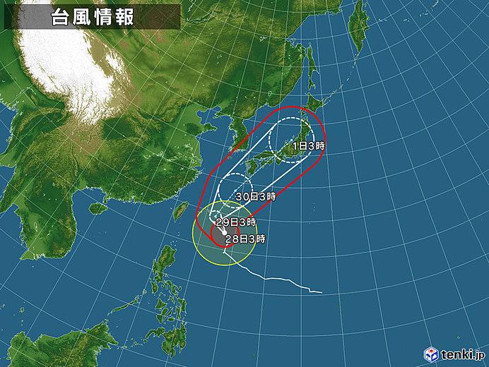 【悲報】台風24号、日本全地域を平等に襲う