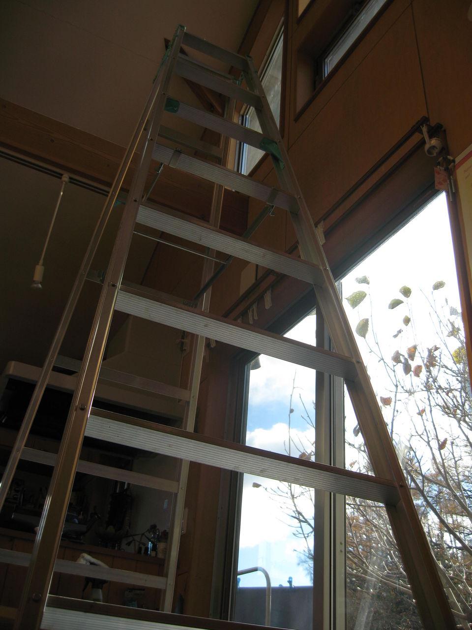 吹き抜け 窓 掃除