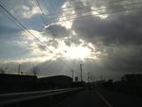 雲の切れ間から・・・。