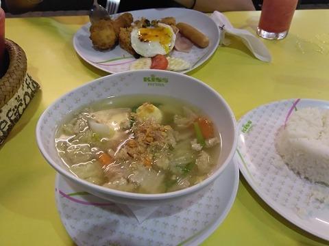 豚肉と野菜の中華スープ
