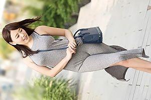 街で見かけた胸・尻が密着するマキシワンピの美女とヤる!